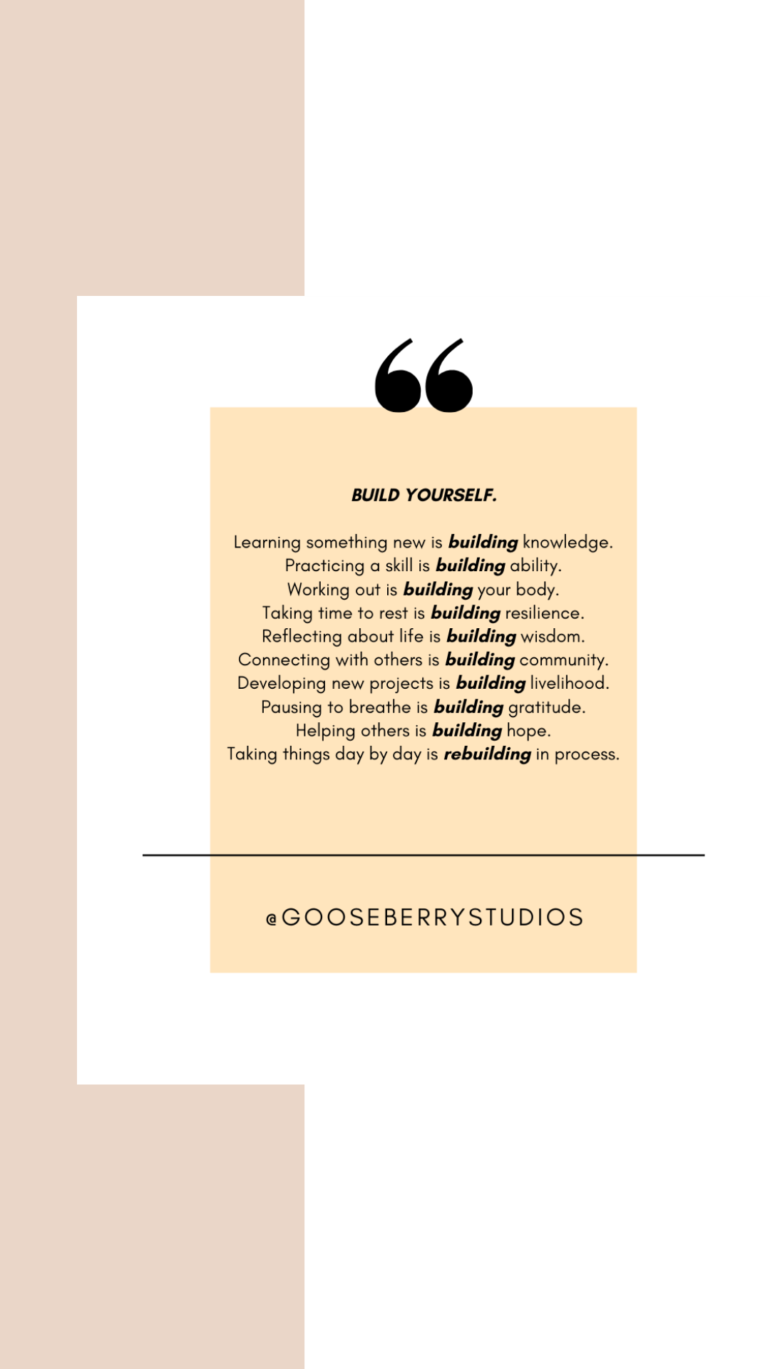 productivity tips gooseberry studios build yourself mindset